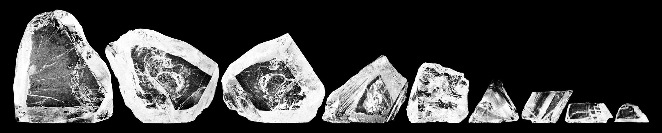 Алмаз Куллинан разбитый на 9 частей
