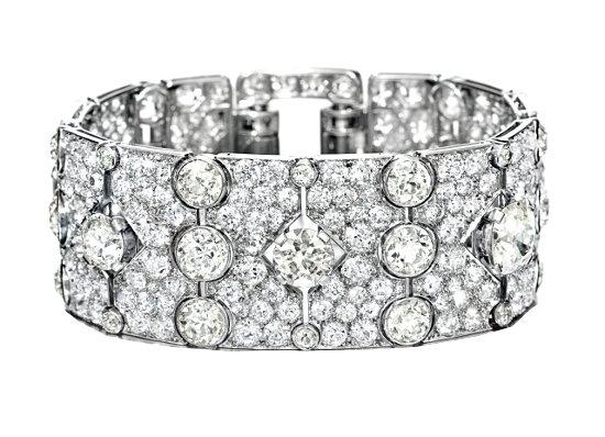 Браслет с алмазами